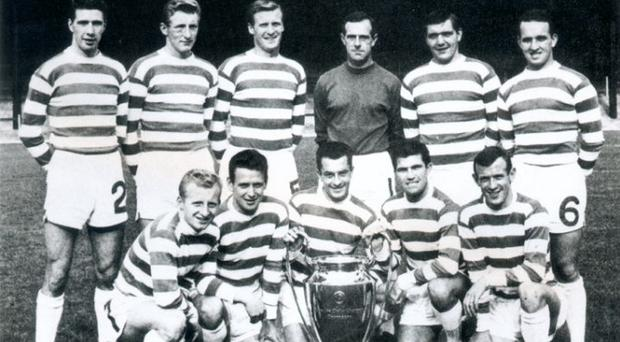 Euro kings: Jock Stein's Celtic team with the European Cup