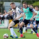 Shackled: Derry's Ronan Curtis closes in on Sean Hoare