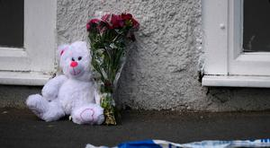 A cuddly toy left near the scene of the Manchester massacre