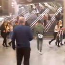People running through Manchester Victoria Station following the explosion at the Manchester Arena