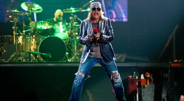 Guns N' Roses will perform at Slane Castle on Saturday.