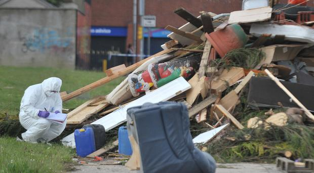 Boy critical after contact with toxic waste at bonfire site