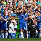 Terry pandering: Chelsea players are forced, sorry, eager to pay tribute to John Terry who is a legend and a leader, by all accounts. Photo: Nick Potts/PA
