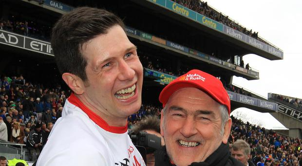Winning combination: Sean Cavanagh and Mickey Harte have enjoyed great success at Tyrone. Photo: Lorraine O'Sullivan/INPHO