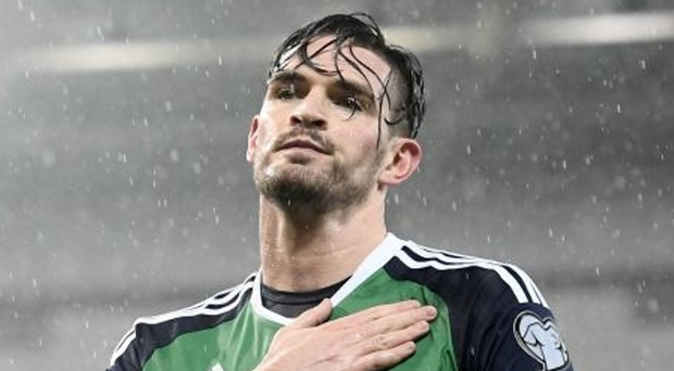 Making progress: Kyle Lafferty insists Northern Ireland are no longer a soft touch when it comes to facing smaller nations.