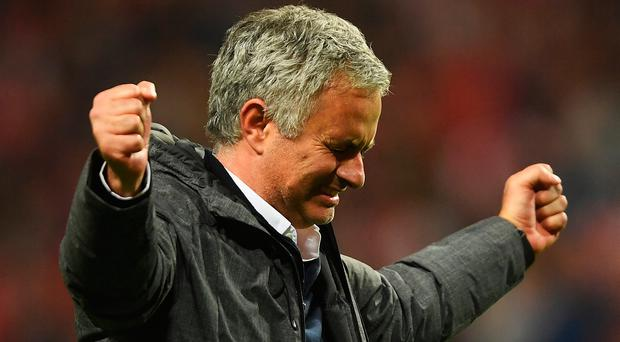 Manchester united boss Jose Mourinho celebrates victory in Stockholm. Photo: Mike Hewitt/Getty Images