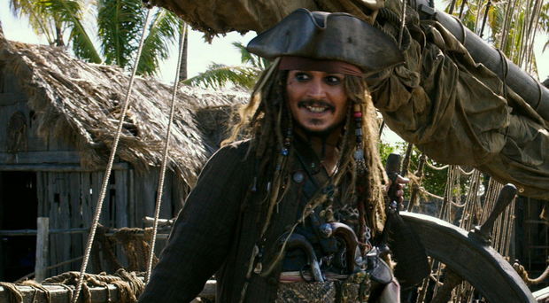 Hunted man: Johnny Depp returns as Captain Jack