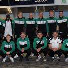 The Glentoran squad have arrived safely in the USA ahead of Saturday's friendly against Detroit City FC.