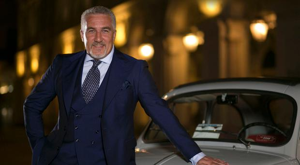 EUROPEAN VACATION: Paul Hollywood with a classic Fiat 500 in Turin