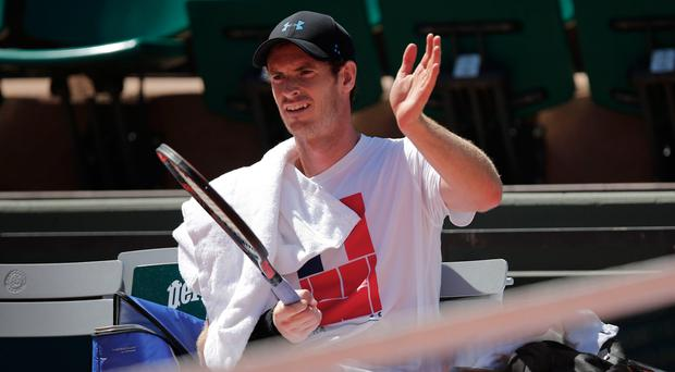 Frustrating: Andy Murray has had an interrupted build-up to his French Open first-round clash with Andrey Kuznetsov