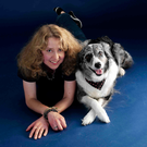 Tina Humphrey with her border collie Chandi