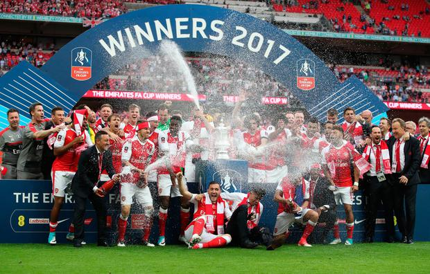 Aaron Ramsey wins FA Cup for Arsenal