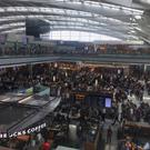Terminal 5 departure lounge, at London's Heathrow. Pic Emily Puddifer