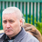 Loyalist Colin Horner who was shot dead in Bangor pictured at the funeral of Geordie Gilmore in Carrickfergus in March this year