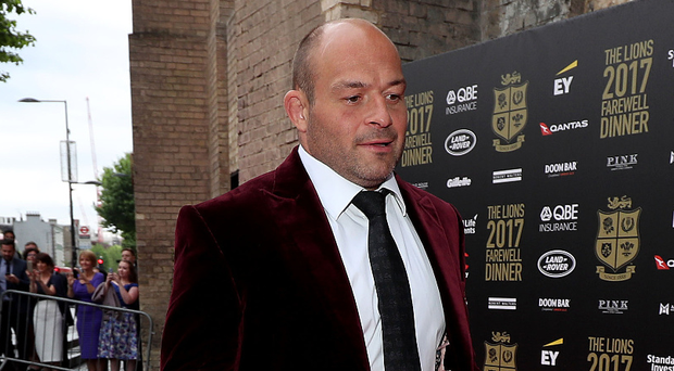 Suited and booted: Rory Best attends the British & Irish Lions Farewell Dinner in London last night
