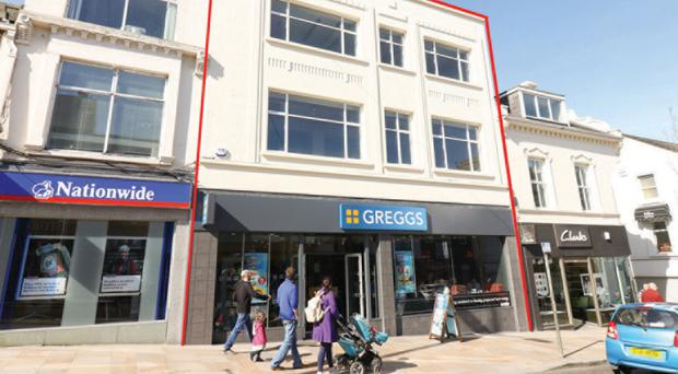 The premises at 70-72 Main Street, Bangor is fully let to Greggs