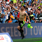 What a feeling: Huddersfield's Christopher Schindler after his winning penalty at Wembley