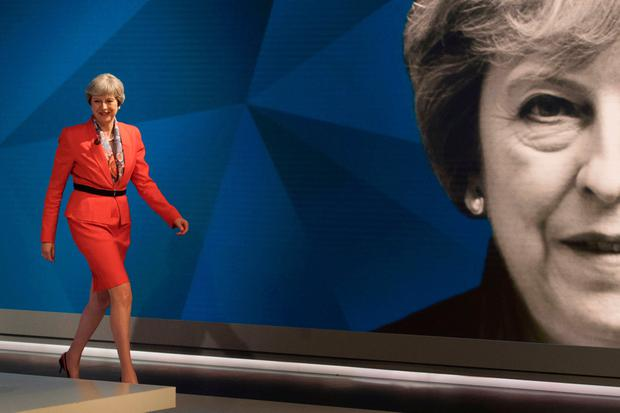 Prime Minister Theresa May appears on a joint Channel 4 and Sky News general election programme recorded at Sky studios in Osterley, west London. PA