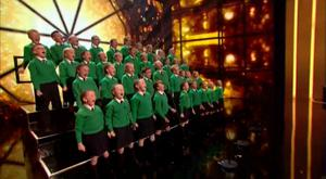 St Patrick's Junior Choir performing on the Britain's Got Talent semi final (© ITV / SYCO)