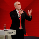 Jeremy Corbyn during the 'The Battle for Number 10' TV programme