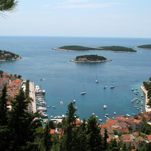 This May 2007 photo shows a view of the Croatian town of Hvar. (AP Photo/Sheila Norman-Culp)