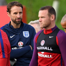 In the cold: Gareth Southgate has left Wayne Rooney out