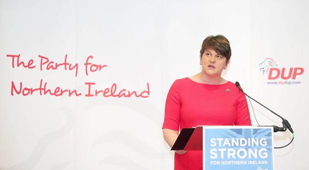 Press Eye Belfast - Northern Ireland 31st May 2017 Ahead of next months Westminster General Election the DUP launch their manifesto at the Old Courthouse in Antrim town. DUP leader Arlene Foster pictured at the launch Picture by Jonathan Porter/PressEye.com