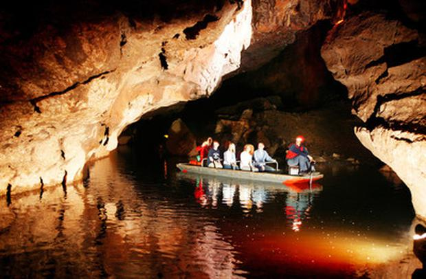 The Marble Arch Caves.