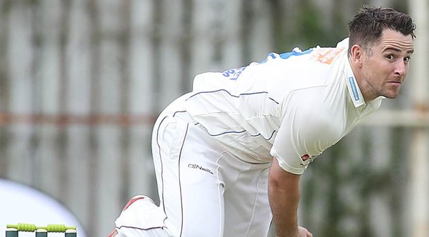 High five: David Scanlon took five wickets to move the Warriors into pole position