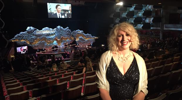 Anne Morrison in the Royal Festival Hall before the BAFTAs began