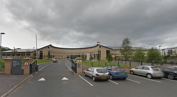 Bangor Academy has issued a warning. Pic Google Maps