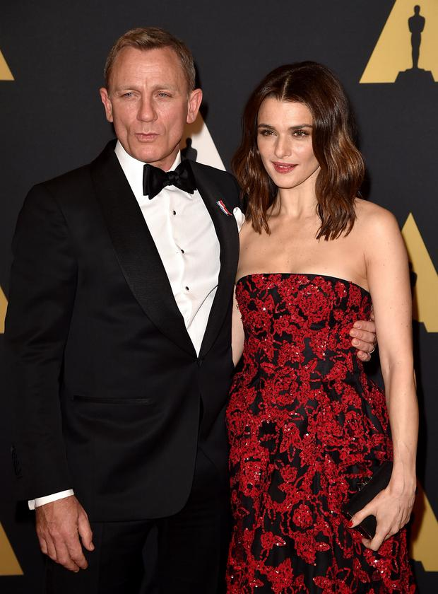 Rachel Weisz with her husband Daniel Craig