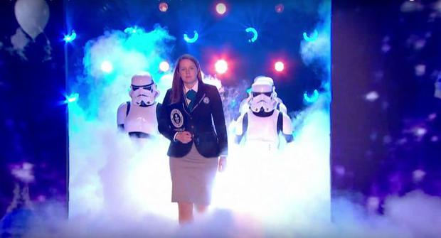 Guinness World Record representative Vicky made a triumphant comeback to the BGT stage. (ITV)