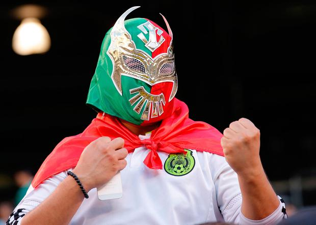 Fans of the National soccer team from Mexico prepare for the friendly match between Mexico and the Republic of Ireland June 1, 2017 at MetLife Stadium in East Rutherford, New Jersey. / AFP PHOTO / Kena BetancurKENA BETANCUR/AFP/Getty Images
