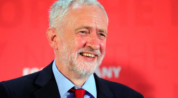 Labour leader Jeremy Corbyn smiles as he delivers a speech during a General Election campaign visit at York Innovation Centre on June 2, 2017 in York, England. If elected in next week's general election Mr Corbyn is pledging to create a million new jobs and to scrap zero-hours contracts. (Photo by Christopher Furlong/Getty Images)
