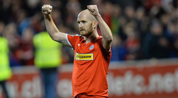Cliftonville's Ryan Catney will enjoy a testimonial during what will be his 12th season as a Cliftonville play in 2018/19. Photo Colm Lenaghan/Pacemaker Press