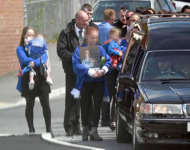 The funeral of Bangor murder victim Colin Horner