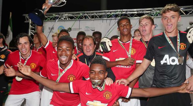 Manchester United will return to the SuperCupNI this summer. They won the Premier title in 2014 with a side that featured Jesse Lingard and Cameron Borthwick-Jackson.