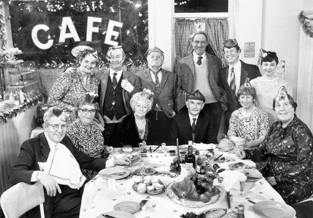 File photo dated 20/12/1989 of 9 of the cast of Last of the Summer Wine in the Christmas special. PA