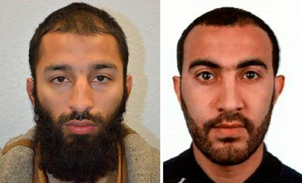 Khuram Shazad Butt (left) and Rachid Redouane who has been named as two of the men shot dead by police following the terrorist attack on London Bridge and Borough Market. PA