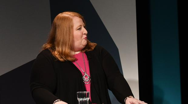 Alliance's Naomi Long during A television debate from the five main parties which was recorded at UTV in Belfast. Pic Pacemaker