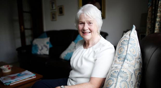 Family support: Helen Setterfield relaxes at home in Belfast