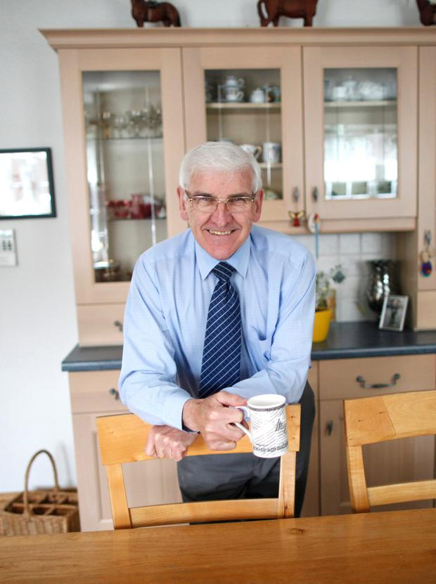 All-clear: Tom Hague in his Lisburn kitchen