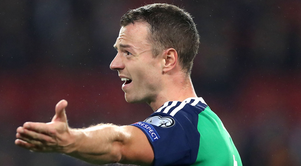 Mixing it up: Jonny Evans enjoys playing in both a three and four-man defence and says the team's ability to switch between the two can pay off. Photo: William Cherry/Presseye