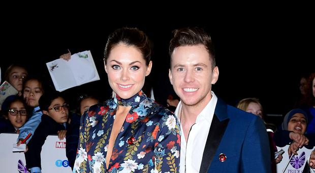 Finding love: Danny Jones with his wife, Georgia Horsley