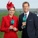 Derby duo: ITV's Ed Chamberlin (minus hat) and co-presenter Francesca Cumani (with hat)