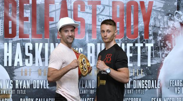 Lee Haskins and Ryan Burnett are ready for Saturday's IBF World Bantamweight title fight at the SSE Arena in Belfast.