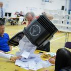 The ballot boxes are opened for West Tyrone at the election count in Omagh. Picture: Ronan McGrade/Pacemaker Press
