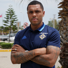 Heat is on: Josh Magennis relaxes at Northern Ireland's team base in Turkey