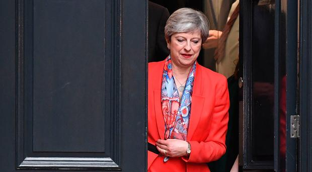 British Prime Minister Theresa May leaves Conservative Party Headquaters on June 9, 2017 in London, England. (Photo by Chris J Ratcliffe/Getty Images)